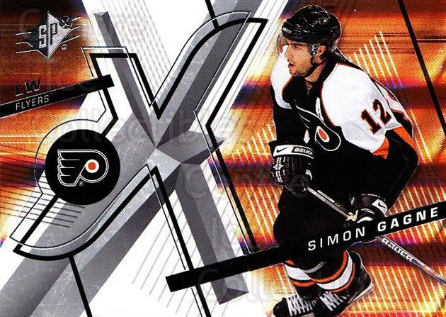 2008-09 Spx #27 Simon Gagne<br/>5 In Stock - $1.00 each - <a href=https://centericecollectibles.foxycart.com/cart?name=2008-09%20Spx%20%2327%20Simon%20Gagne...&quantity_max=5&price=$1.00&code=213264 class=foxycart> Buy it now! </a>