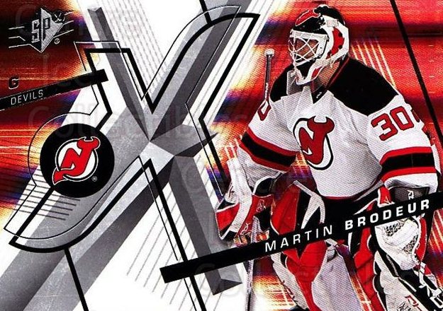 2008-09 Spx #40 Martin Brodeur<br/>4 In Stock - $2.00 each - <a href=https://centericecollectibles.foxycart.com/cart?name=2008-09%20Spx%20%2340%20Martin%20Brodeur...&quantity_max=4&price=$2.00&code=213277 class=foxycart> Buy it now! </a>