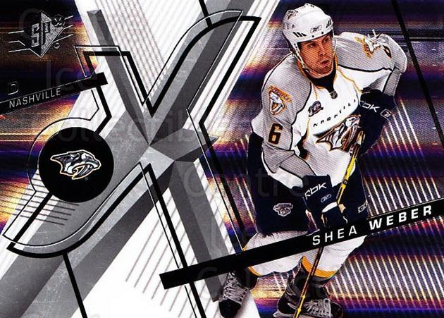 2008-09 Spx #44 Shea Weber<br/>4 In Stock - $1.00 each - <a href=https://centericecollectibles.foxycart.com/cart?name=2008-09%20Spx%20%2344%20Shea%20Weber...&quantity_max=4&price=$1.00&code=213281 class=foxycart> Buy it now! </a>