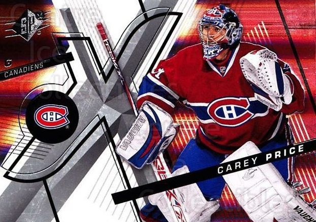 2008-09 Spx #46 Carey Price<br/>1 In Stock - $3.00 each - <a href=https://centericecollectibles.foxycart.com/cart?name=2008-09%20Spx%20%2346%20Carey%20Price...&quantity_max=1&price=$3.00&code=213283 class=foxycart> Buy it now! </a>