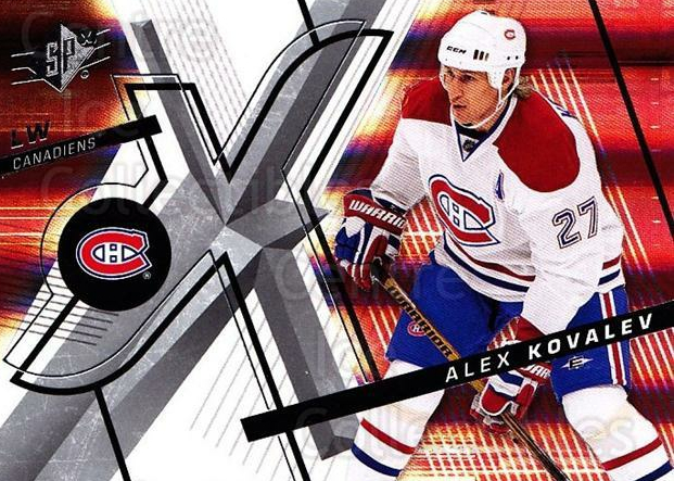 2008-09 Spx #48 Alexei Kovalev<br/>5 In Stock - $1.00 each - <a href=https://centericecollectibles.foxycart.com/cart?name=2008-09%20Spx%20%2348%20Alexei%20Kovalev...&quantity_max=5&price=$1.00&code=213285 class=foxycart> Buy it now! </a>