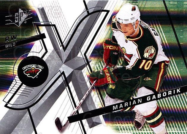 2008-09 Spx #50 Marian Gaborik<br/>4 In Stock - $1.00 each - <a href=https://centericecollectibles.foxycart.com/cart?name=2008-09%20Spx%20%2350%20Marian%20Gaborik...&quantity_max=4&price=$1.00&code=213287 class=foxycart> Buy it now! </a>
