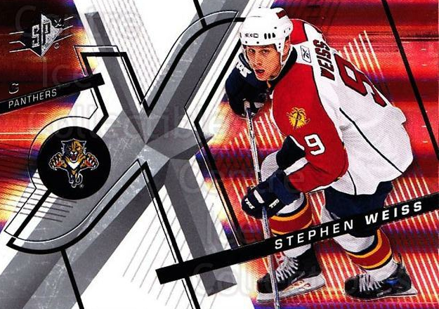 2008-09 Spx #54 Stephen Weiss<br/>4 In Stock - $1.00 each - <a href=https://centericecollectibles.foxycart.com/cart?name=2008-09%20Spx%20%2354%20Stephen%20Weiss...&quantity_max=4&price=$1.00&code=213291 class=foxycart> Buy it now! </a>