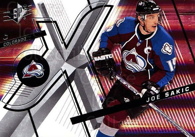 2008-09 Spx #70 Joe Sakic<br/>3 In Stock - $2.00 each - <a href=https://centericecollectibles.foxycart.com/cart?name=2008-09%20Spx%20%2370%20Joe%20Sakic...&quantity_max=3&price=$2.00&code=213307 class=foxycart> Buy it now! </a>