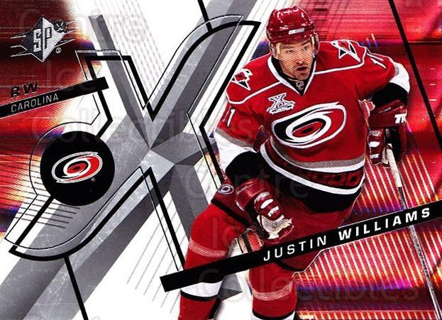 2008-09 Spx #81 Justin Williams<br/>4 In Stock - $1.00 each - <a href=https://centericecollectibles.foxycart.com/cart?name=2008-09%20Spx%20%2381%20Justin%20Williams...&quantity_max=4&price=$1.00&code=213318 class=foxycart> Buy it now! </a>