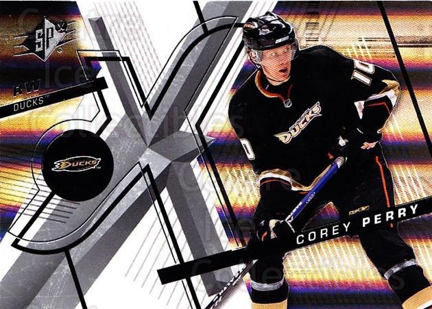 2008-09 Spx #98 Corey Perry<br/>4 In Stock - $1.00 each - <a href=https://centericecollectibles.foxycart.com/cart?name=2008-09%20Spx%20%2398%20Corey%20Perry...&quantity_max=4&price=$1.00&code=213335 class=foxycart> Buy it now! </a>