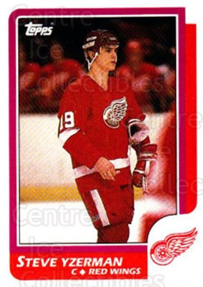 1986-87 Topps #11 Steve Yzerman<br/>2 In Stock - $10.00 each - <a href=https://centericecollectibles.foxycart.com/cart?name=1986-87%20Topps%20%2311%20Steve%20Yzerman...&price=$10.00&code=213516 class=foxycart> Buy it now! </a>