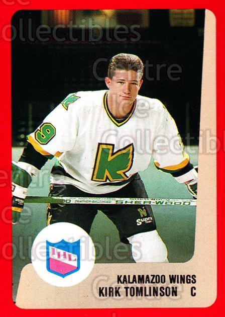 1988-89 ProCards IHL #40 Kirk Tomlinson<br/>2 In Stock - $2.00 each - <a href=https://centericecollectibles.foxycart.com/cart?name=1988-89%20ProCards%20IHL%20%2340%20Kirk%20Tomlinson...&quantity_max=2&price=$2.00&code=21355 class=foxycart> Buy it now! </a>