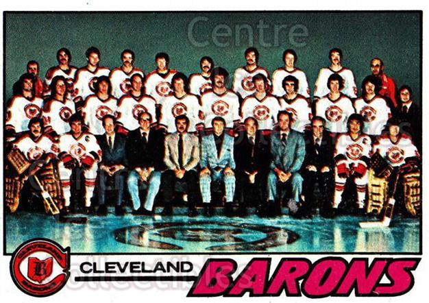 1977-78 Topps #75 Cleveland Barons, Checklist<br/>3 In Stock - $1.00 each - <a href=https://centericecollectibles.foxycart.com/cart?name=1977-78%20Topps%20%2375%20Cleveland%20Baron...&price=$1.00&code=213618 class=foxycart> Buy it now! </a>