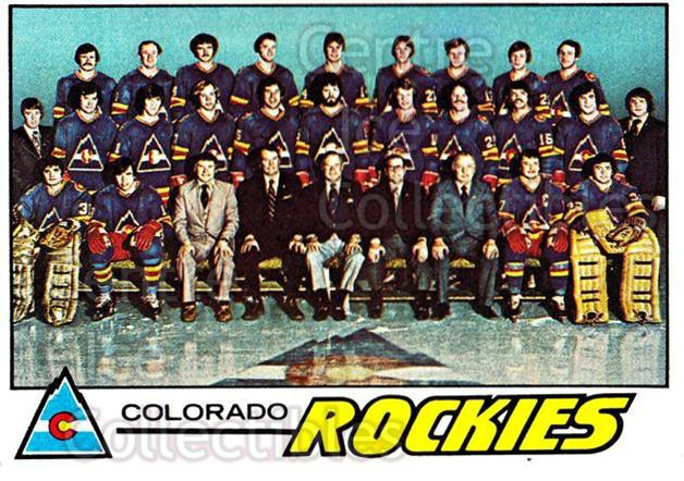 1977-78 Topps #76 Colorado Rockies, Checklist<br/>3 In Stock - $1.00 each - <a href=https://centericecollectibles.foxycart.com/cart?name=1977-78%20Topps%20%2376%20Colorado%20Rockie...&quantity_max=3&price=$1.00&code=213619 class=foxycart> Buy it now! </a>