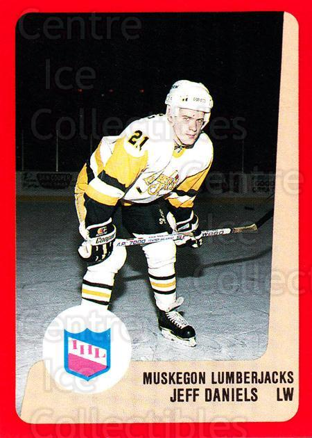 1988-89 ProCards IHL #47 Jeff Daniels<br/>13 In Stock - $2.00 each - <a href=https://centericecollectibles.foxycart.com/cart?name=1988-89%20ProCards%20IHL%20%2347%20Jeff%20Daniels...&quantity_max=13&price=$2.00&code=21362 class=foxycart> Buy it now! </a>