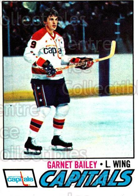 1977-78 Topps #196 Garnet Bailey<br/>4 In Stock - $1.00 each - <a href=https://centericecollectibles.foxycart.com/cart?name=1977-78%20Topps%20%23196%20Garnet%20Bailey...&quantity_max=4&price=$1.00&code=213739 class=foxycart> Buy it now! </a>