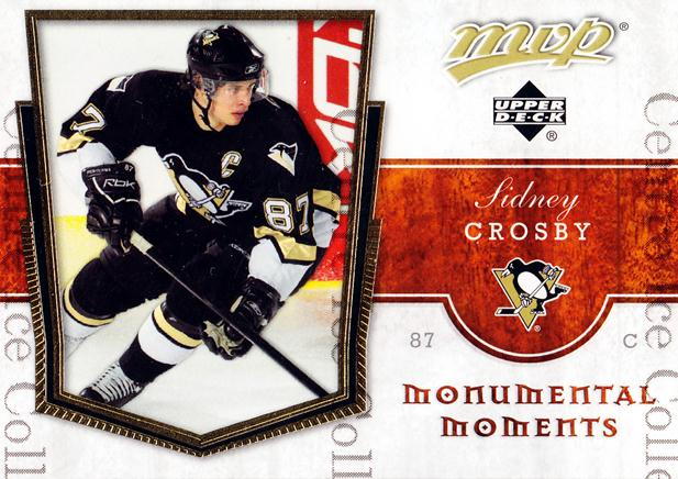 2007-08 Upper Deck MVP Monumental Moments #3 Sidney Crosby<br/>1 In Stock - $3.00 each - <a href=https://centericecollectibles.foxycart.com/cart?name=2007-08%20Upper%20Deck%20MVP%20Monumental%20Moments%20%233%20Sidney%20Crosby...&price=$3.00&code=213811 class=foxycart> Buy it now! </a>