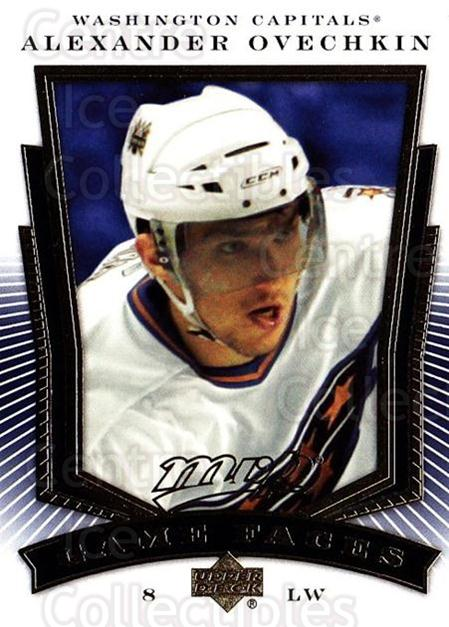 2007-08 Upper Deck MVP Game Faces #7 Alexander Ovechkin<br/>5 In Stock - $3.00 each - <a href=https://centericecollectibles.foxycart.com/cart?name=2007-08%20Upper%20Deck%20MVP%20Game%20Faces%20%237%20Alexander%20Ovech...&price=$3.00&code=213843 class=foxycart> Buy it now! </a>