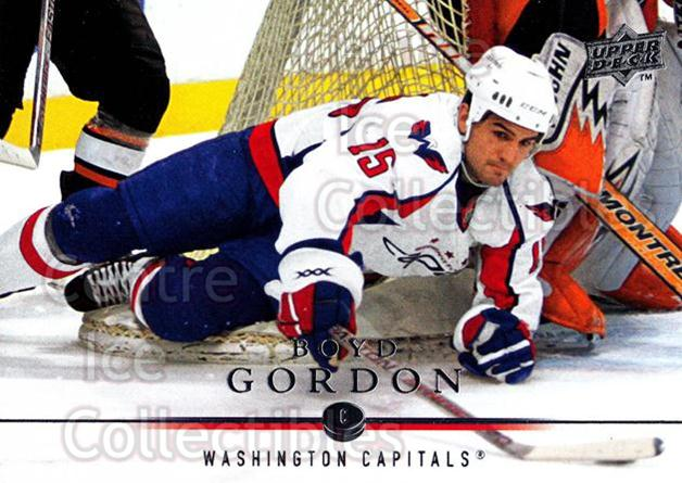 2008-09 Upper Deck #6 Boyd Gordon<br/>12 In Stock - $1.00 each - <a href=https://centericecollectibles.foxycart.com/cart?name=2008-09%20Upper%20Deck%20%236%20Boyd%20Gordon...&quantity_max=12&price=$1.00&code=213858 class=foxycart> Buy it now! </a>