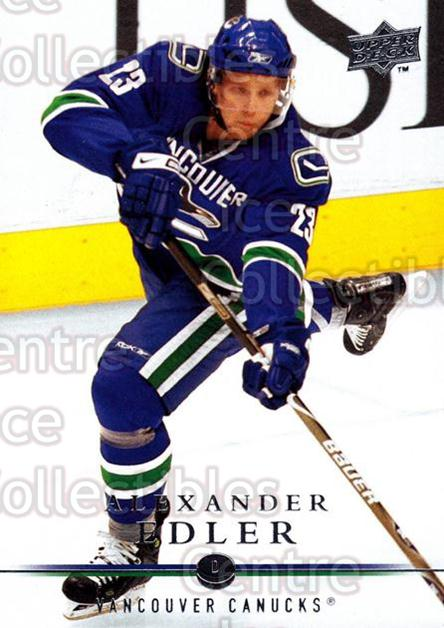 2008-09 Upper Deck #9 Alexander Edler<br/>13 In Stock - $1.00 each - <a href=https://centericecollectibles.foxycart.com/cart?name=2008-09%20Upper%20Deck%20%239%20Alexander%20Edler...&quantity_max=13&price=$1.00&code=213861 class=foxycart> Buy it now! </a>