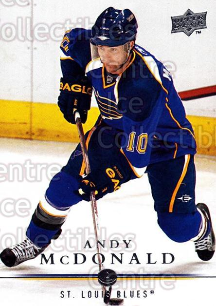 2008-09 Upper Deck #33 Andy McDonald<br/>12 In Stock - $1.00 each - <a href=https://centericecollectibles.foxycart.com/cart?name=2008-09%20Upper%20Deck%20%2333%20Andy%20McDonald...&quantity_max=12&price=$1.00&code=213885 class=foxycart> Buy it now! </a>