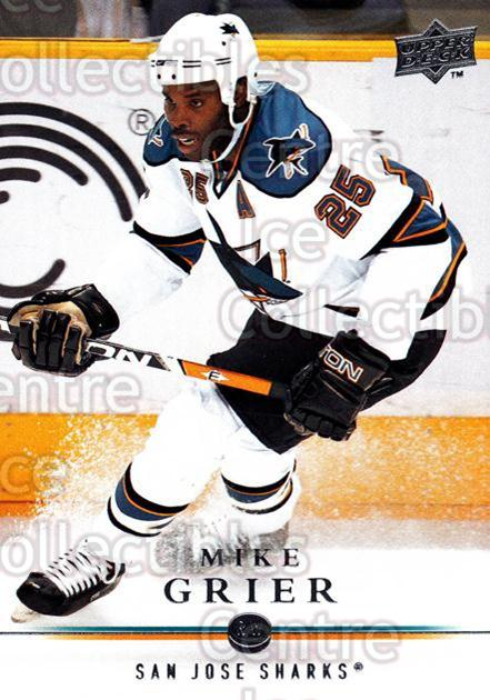 2008-09 Upper Deck #41 Mike Grier<br/>13 In Stock - $1.00 each - <a href=https://centericecollectibles.foxycart.com/cart?name=2008-09%20Upper%20Deck%20%2341%20Mike%20Grier...&quantity_max=13&price=$1.00&code=213893 class=foxycart> Buy it now! </a>