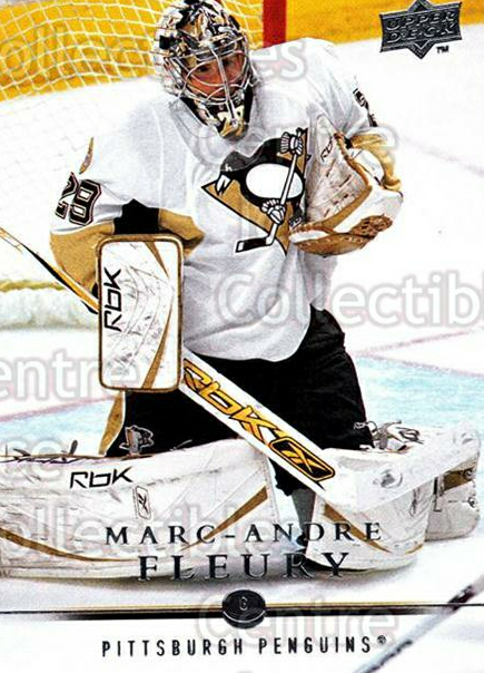 2008-09 Upper Deck #43 Marc-Andre Fleury<br/>11 In Stock - $2.00 each - <a href=https://centericecollectibles.foxycart.com/cart?name=2008-09%20Upper%20Deck%20%2343%20Marc-Andre%20Fleu...&quantity_max=11&price=$2.00&code=213895 class=foxycart> Buy it now! </a>