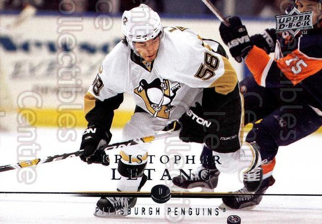 2008-09 Upper Deck #44 Kristopher Letang<br/>12 In Stock - $1.00 each - <a href=https://centericecollectibles.foxycart.com/cart?name=2008-09%20Upper%20Deck%20%2344%20Kristopher%20Leta...&quantity_max=12&price=$1.00&code=213896 class=foxycart> Buy it now! </a>