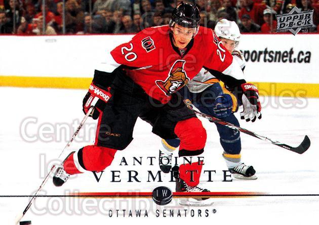 2008-09 Upper Deck #65 Antoine Vermette<br/>14 In Stock - $1.00 each - <a href=https://centericecollectibles.foxycart.com/cart?name=2008-09%20Upper%20Deck%20%2365%20Antoine%20Vermett...&quantity_max=14&price=$1.00&code=213917 class=foxycart> Buy it now! </a>