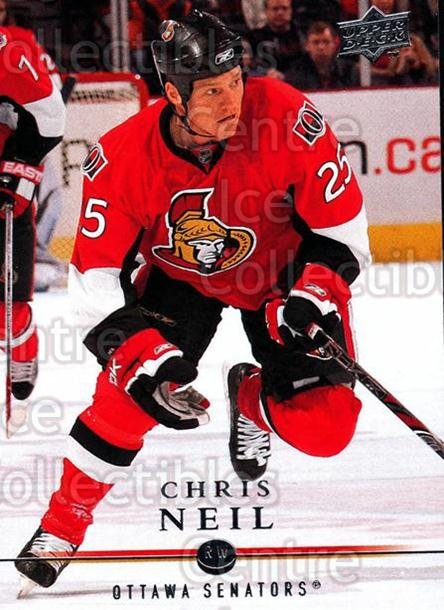 2008-09 Upper Deck #68 Chris Neil<br/>13 In Stock - $1.00 each - <a href=https://centericecollectibles.foxycart.com/cart?name=2008-09%20Upper%20Deck%20%2368%20Chris%20Neil...&quantity_max=13&price=$1.00&code=213920 class=foxycart> Buy it now! </a>