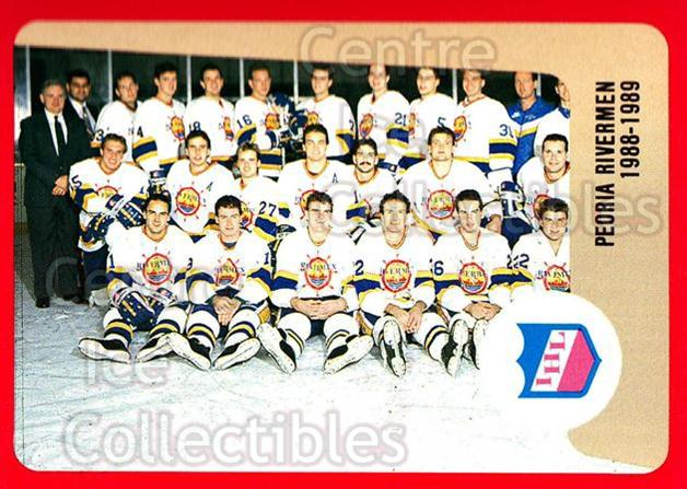 1988-89 ProCards IHL #75 Peoria Rivermen, Team Photo<br/>12 In Stock - $2.00 each - <a href=https://centericecollectibles.foxycart.com/cart?name=1988-89%20ProCards%20IHL%20%2375%20Peoria%20Rivermen...&price=$2.00&code=21392 class=foxycart> Buy it now! </a>