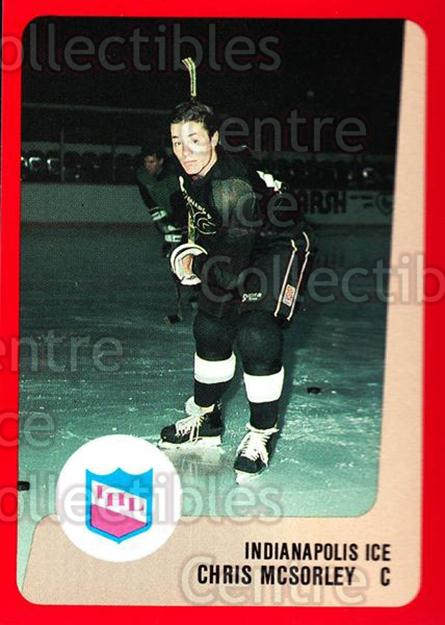 1988-89 ProCards IHL #8 Chris McSorley<br/>4 In Stock - $2.00 each - <a href=https://centericecollectibles.foxycart.com/cart?name=1988-89%20ProCards%20IHL%20%238%20Chris%20McSorley...&quantity_max=4&price=$2.00&code=21397 class=foxycart> Buy it now! </a>