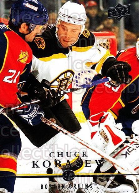 2008-09 Upper Deck #186 Chuck Kobasew<br/>14 In Stock - $1.00 each - <a href=https://centericecollectibles.foxycart.com/cart?name=2008-09%20Upper%20Deck%20%23186%20Chuck%20Kobasew...&quantity_max=14&price=$1.00&code=214038 class=foxycart> Buy it now! </a>