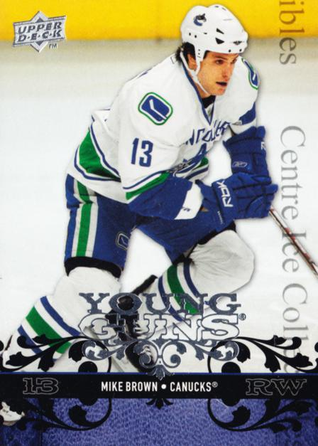 2008-09 Upper Deck #249 Mike Brown<br/>11 In Stock - $5.00 each - <a href=https://centericecollectibles.foxycart.com/cart?name=2008-09%20Upper%20Deck%20%23249%20Mike%20Brown...&quantity_max=11&price=$5.00&code=214101 class=foxycart> Buy it now! </a>