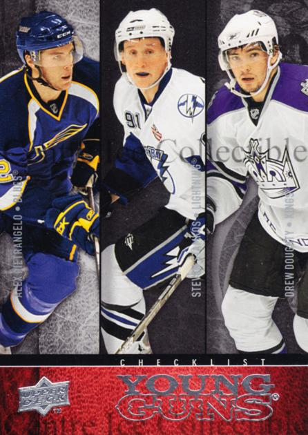 2008-09 Upper Deck #250 Steven Stamkos, Alex Pietrangelo, Drew Doughty, Checklist<br/>5 In Stock - $5.00 each - <a href=https://centericecollectibles.foxycart.com/cart?name=2008-09%20Upper%20Deck%20%23250%20Steven%20Stamkos,...&quantity_max=5&price=$5.00&code=214102 class=foxycart> Buy it now! </a>