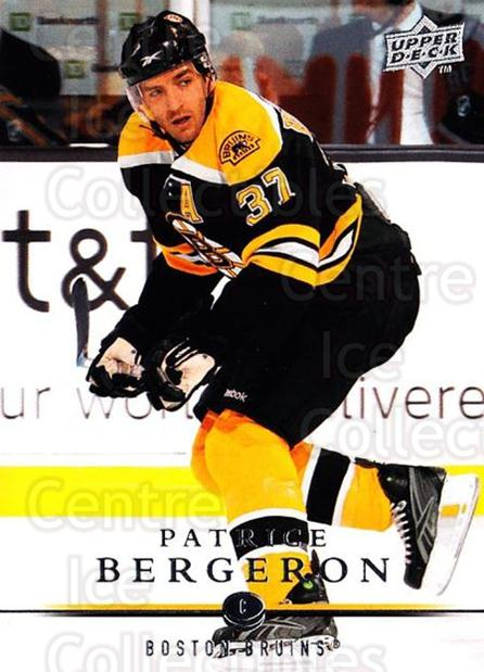 2008-09 Upper Deck #266 Patrice Bergeron<br/>1 In Stock - $2.00 each - <a href=https://centericecollectibles.foxycart.com/cart?name=2008-09%20Upper%20Deck%20%23266%20Patrice%20Bergero...&quantity_max=1&price=$2.00&code=214118 class=foxycart> Buy it now! </a>