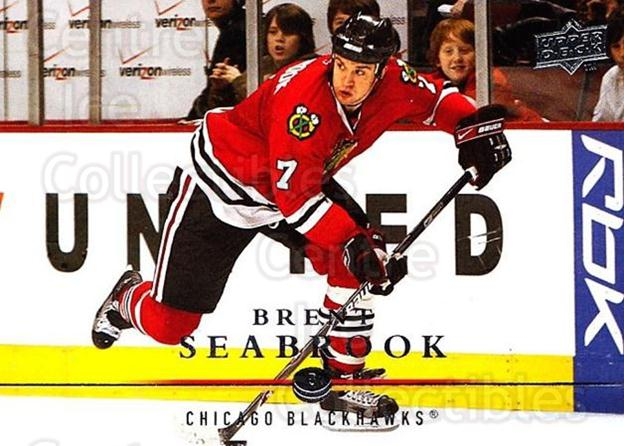 2008-09 Upper Deck #293 Brent Seabrook<br/>1 In Stock - $1.00 each - <a href=https://centericecollectibles.foxycart.com/cart?name=2008-09%20Upper%20Deck%20%23293%20Brent%20Seabrook...&quantity_max=1&price=$1.00&code=214145 class=foxycart> Buy it now! </a>