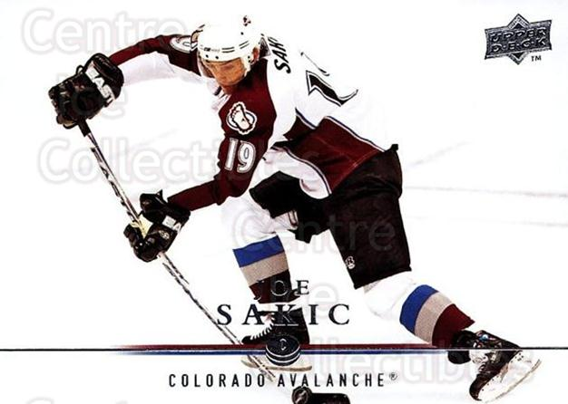 2008-09 Upper Deck #297 Joe Sakic<br/>2 In Stock - $2.00 each - <a href=https://centericecollectibles.foxycart.com/cart?name=2008-09%20Upper%20Deck%20%23297%20Joe%20Sakic...&quantity_max=2&price=$2.00&code=214149 class=foxycart> Buy it now! </a>