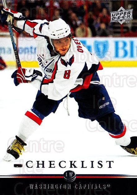 2008-09 Upper Deck #450 Alexander Ovechkin, Checklist<br/>2 In Stock - $1.00 each - <a href=https://centericecollectibles.foxycart.com/cart?name=2008-09%20Upper%20Deck%20%23450%20Alexander%20Ovech...&price=$1.00&code=214302 class=foxycart> Buy it now! </a>