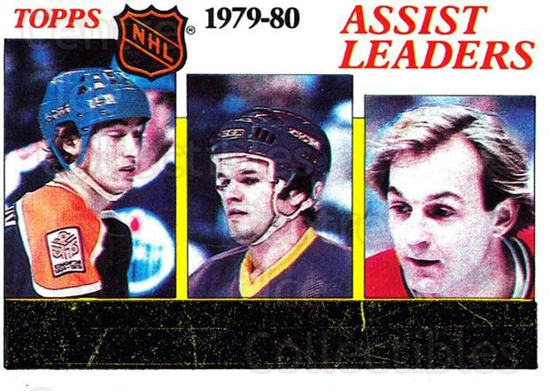 1980-81 Topps #162 Wayne Gretzky, Marcel Dionne, Guy Lafleur<br/>5 In Stock - $10.00 each - <a href=https://centericecollectibles.foxycart.com/cart?name=1980-81%20Topps%20%23162%20Wayne%20Gretzky,%20...&price=$10.00&code=214514 class=foxycart> Buy it now! </a>