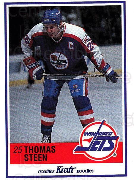 1990-91 Kraft #55 Thomas Steen<br/>2 In Stock - $2.00 each - <a href=https://centericecollectibles.foxycart.com/cart?name=1990-91%20Kraft%20%2355%20Thomas%20Steen...&quantity_max=2&price=$2.00&code=214641 class=foxycart> Buy it now! </a>