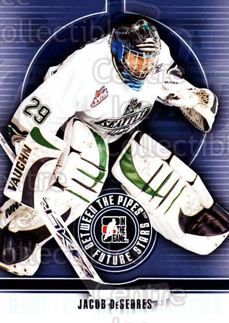 2008-09 Between The Pipes #17 Jacob DeSerres<br/>11 In Stock - $1.00 each - <a href=https://centericecollectibles.foxycart.com/cart?name=2008-09%20Between%20The%20Pipes%20%2317%20Jacob%20DeSerres...&price=$1.00&code=214726 class=foxycart> Buy it now! </a>