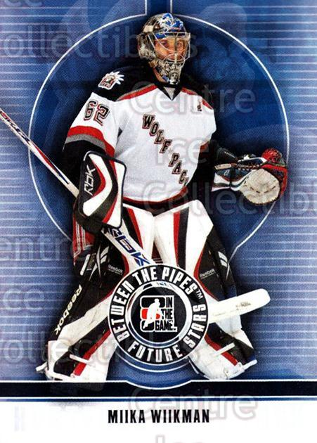 2008-09 Between The Pipes #34 Miika Wiikman<br/>5 In Stock - $1.00 each - <a href=https://centericecollectibles.foxycart.com/cart?name=2008-09%20Between%20The%20Pipes%20%2334%20Miika%20Wiikman...&quantity_max=5&price=$1.00&code=214743 class=foxycart> Buy it now! </a>