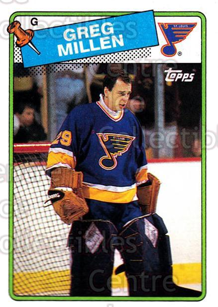 1988-89 Topps #117 Greg Millen<br/>6 In Stock - $1.00 each - <a href=https://centericecollectibles.foxycart.com/cart?name=1988-89%20Topps%20%23117%20Greg%20Millen...&quantity_max=6&price=$1.00&code=21475 class=foxycart> Buy it now! </a>