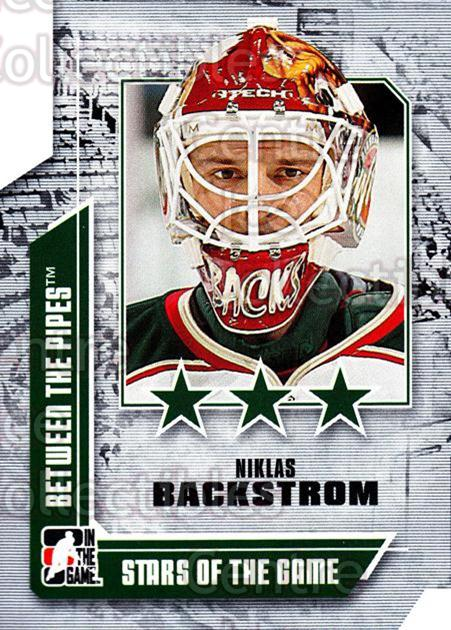 2008-09 Between The Pipes #67 Niklas Backstrom<br/>13 In Stock - $1.00 each - <a href=https://centericecollectibles.foxycart.com/cart?name=2008-09%20Between%20The%20Pipes%20%2367%20Niklas%20Backstro...&quantity_max=13&price=$1.00&code=214776 class=foxycart> Buy it now! </a>