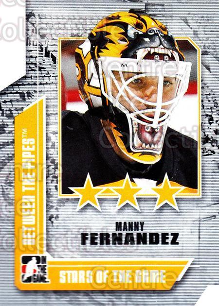 2008-09 Between The Pipes #68 Manny Fernandez<br/>13 In Stock - $1.00 each - <a href=https://centericecollectibles.foxycart.com/cart?name=2008-09%20Between%20The%20Pipes%20%2368%20Manny%20Fernandez...&quantity_max=13&price=$1.00&code=214777 class=foxycart> Buy it now! </a>