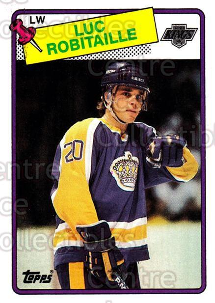 1988-89 Topps #124 Luc Robitaille<br/>5 In Stock - $2.00 each - <a href=https://centericecollectibles.foxycart.com/cart?name=1988-89%20Topps%20%23124%20Luc%20Robitaille...&quantity_max=5&price=$2.00&code=21481 class=foxycart> Buy it now! </a>