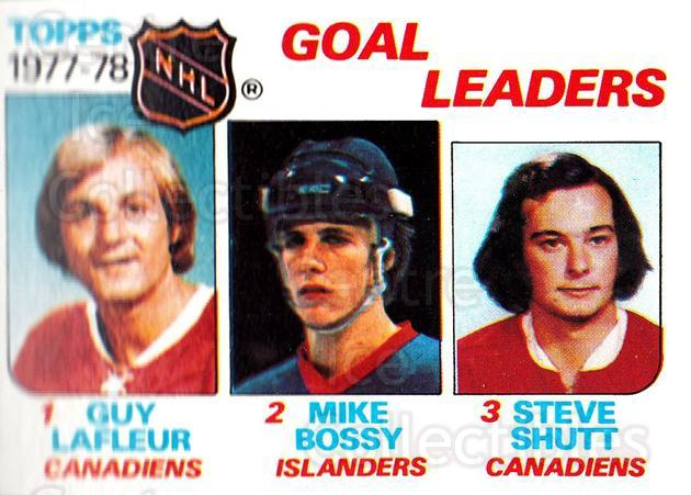 1978-79 Topps #63 Guy Lafleur, Mike Bossy, Steve Shutt<br/>4 In Stock - $3.00 each - <a href=https://centericecollectibles.foxycart.com/cart?name=1978-79%20Topps%20%2363%20Guy%20Lafleur,%20Mi...&price=$3.00&code=214875 class=foxycart> Buy it now! </a>