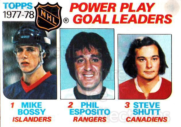 1978-79 Topps #67 Mike Bossy, Phil Esposito, Steve Shutt<br/>5 In Stock - $2.00 each - <a href=https://centericecollectibles.foxycart.com/cart?name=1978-79%20Topps%20%2367%20Mike%20Bossy,%20Phi...&quantity_max=5&price=$2.00&code=214876 class=foxycart> Buy it now! </a>