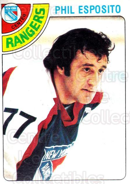 1978-79 Topps #100 Phil Esposito<br/>6 In Stock - $2.00 each - <a href=https://centericecollectibles.foxycart.com/cart?name=1978-79%20Topps%20%23100%20Phil%20Esposito...&quantity_max=6&price=$2.00&code=214880 class=foxycart> Buy it now! </a>