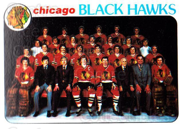 1978-79 Topps #195 Chicago BlackHawks, Checklist<br/>10 In Stock - $1.00 each - <a href=https://centericecollectibles.foxycart.com/cart?name=1978-79%20Topps%20%23195%20Chicago%20BlackHa...&quantity_max=10&price=$1.00&code=214886 class=foxycart> Buy it now! </a>