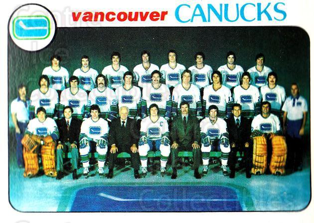 1978-79 Topps #207 Vancouver Canucks, Checklist<br/>10 In Stock - $1.00 each - <a href=https://centericecollectibles.foxycart.com/cart?name=1978-79%20Topps%20%23207%20Vancouver%20Canuc...&quantity_max=10&price=$1.00&code=214898 class=foxycart> Buy it now! </a>