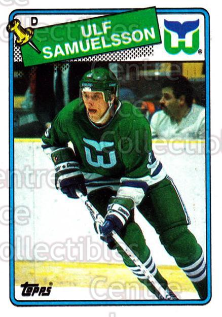 1988-89 Topps #136 Ulf Samuelsson<br/>6 In Stock - $1.00 each - <a href=https://centericecollectibles.foxycart.com/cart?name=1988-89%20Topps%20%23136%20Ulf%20Samuelsson...&quantity_max=6&price=$1.00&code=21494 class=foxycart> Buy it now! </a>