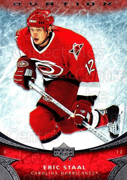 2006-07 UD Ovation #111 Eric Staal<br/>1 In Stock - $1.00 each - <a href=https://centericecollectibles.foxycart.com/cart?name=2006-07%20UD%20Ovation%20%23111%20Eric%20Staal...&quantity_max=1&price=$1.00&code=215025 class=foxycart> Buy it now! </a>